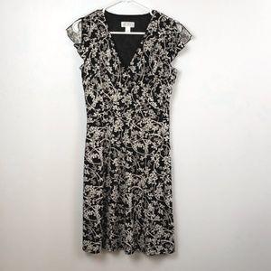 LOFT Petites Women's Faux Wrap Style Dress size